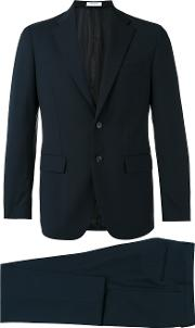 Classic Two Piece Suit Men Virgin Woolacetatecupro 48, Blue