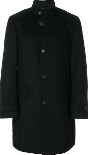 Boss Hugo Boss Mid Length Button Coat Men Viscosecashmerevirgin Wool 52, Black