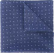 Printed Pocket Square Men Lyocell One Size, Blue
