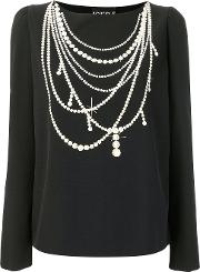 Pearl Necklace Print Top