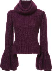 Bell Sleeve Roll Neck Sweater