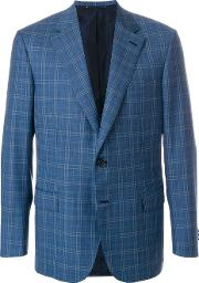 Checked Button Blazer