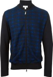 Fine Knit Plaid Jacket Men Silkcotton 58, Black