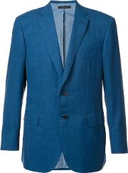 Flap Pocket Blazer Men Wool 56, Blue