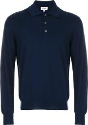 Knitted Polo Shirt Men Wool