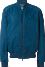 Leather Bomber Jacket Men Leather 52, Blue
