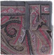 Paisley Scarf Men Cashmere One Size, Grey