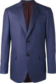 Two Button Blazer Men Silkcottoncuprowool 56, Blue