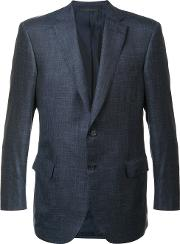 Two Button Blazer Men Silklinenflaxcashmere 50, Grey