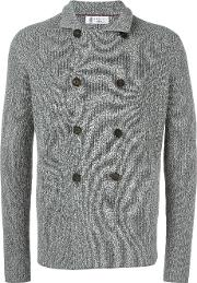 Double Breasted Coat Men Cotton 48, Grey