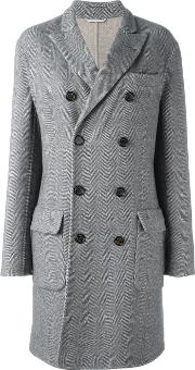 Double Breasted Coat Men Cuprocashmerewool 54, Grey