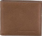 Logo Stamp Wallet Men Leather One Size, Brown