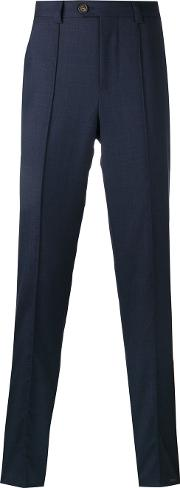 Pipping Detail Tapered Trousers Men Cottonviscosewool 50, Blue