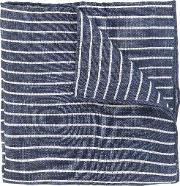 Striped Scarf Men Cottonlinenflax One Size, Blue