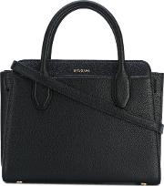 Logo Plaque Tote Women Calf Leather One Size, Black