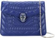 Serpenti Crossbody Bag Women Leathermetal Other One Size, Blue