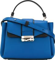 Serpenti Satchel Women Calf Leather One Size, Blue