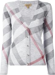 'nova Check' Cardigan Women Cashmeremerino L, Women's, Grey