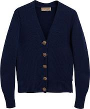 Bird Button Cashmere Cardigan
