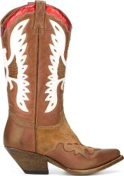 Western Boots Women Calf Leatherleather 38, Brown