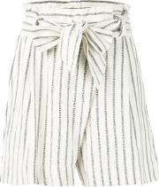 Striped Shorts Women Cotton Xxs, Nudeneutrals