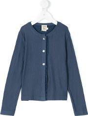 Caffe' D'orzo Knitted Cardigan Kids Cottonspandexelastanemicromodal 2 Yrs, Blue