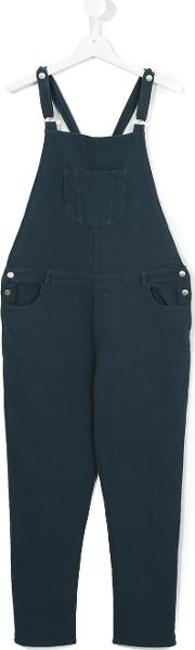 Caffe' D'orzo Penelope Dungarees Kids Cotton 16 Yrs, Blue