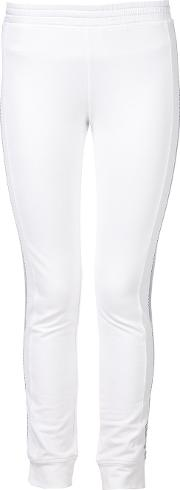 Callens Side Panel Track Pants Women Cotton Xs, White
