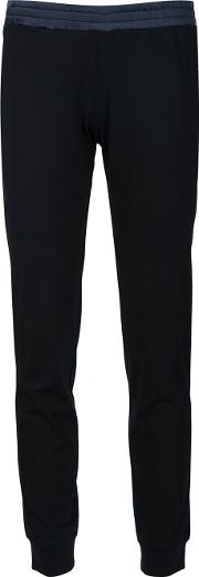 Slim Fit Track Pants Women Viscose Xs, Women's, Black