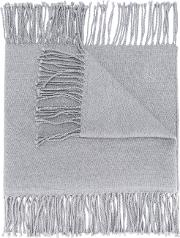 Canali Fringed Scarf Men Wool One Size, Grey