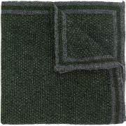 Canali Knitted Pocket Square Men Silkcashmere One Size, Green