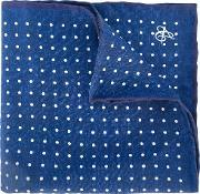 Dots Pattern Pocket Square Men Silk One Size, Blue