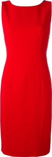 Back Bow Detail Dress Women Polyesterspandexelastaneviscose 44, Red