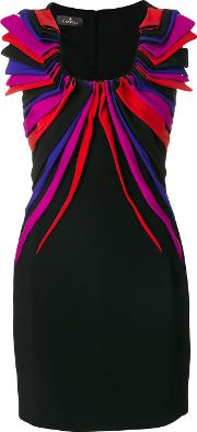 Draped Applique Mini Dress