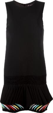 Sleeveless Pleated Hem Dress Women Cottonpolyesterspandexelastaneviscose 42, Women's, Black
