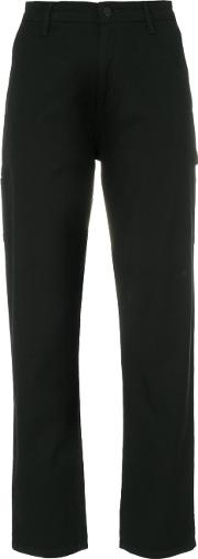 Carhartt Cropped Logo Patch Trousers Women Cottonspandexelastanepolyester 25, Black