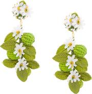 Flower And Beads Earrings