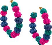 Raffia Beads Earrings