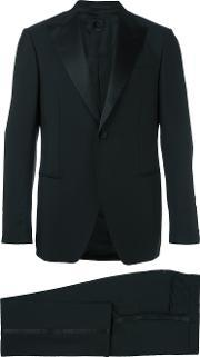 Formal Classic Suit Men Cupromohairwool 46, Black