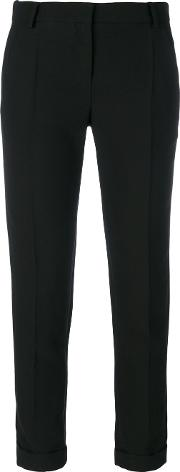 Cady Cropped Trousers Women Polyesteracetateviscose 36, Black