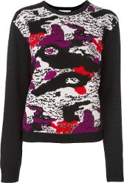 Carven Abstract Print Jumper Women Wool M, Black