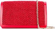 Woven Shoulder Bag Women Polyamidesatinkid Leather One Size, Red