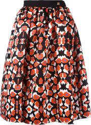 Patterned Pleated Skirt Women Polyesterspandexelastaneacetateviscose 38, Women's