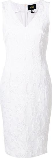 Rose Embossed Fitted Dress