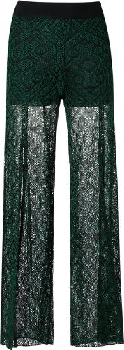Knitted Pants Women Acryliclurexviscose P, Green