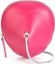 Circular Shaped Crossbody Bag Women Calf Leather One Size