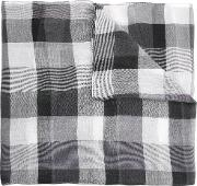 1881 Checked Scarf Men Cottonmodalviscose One Size
