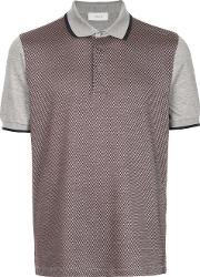 1881 Contrast Sleeve Patterned Polo Shirt