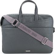 1881 Double Front Pocket Briefcase Men Calf Leather One Size, Grey