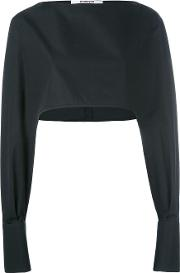 Cropped Cuff Detail Blouse